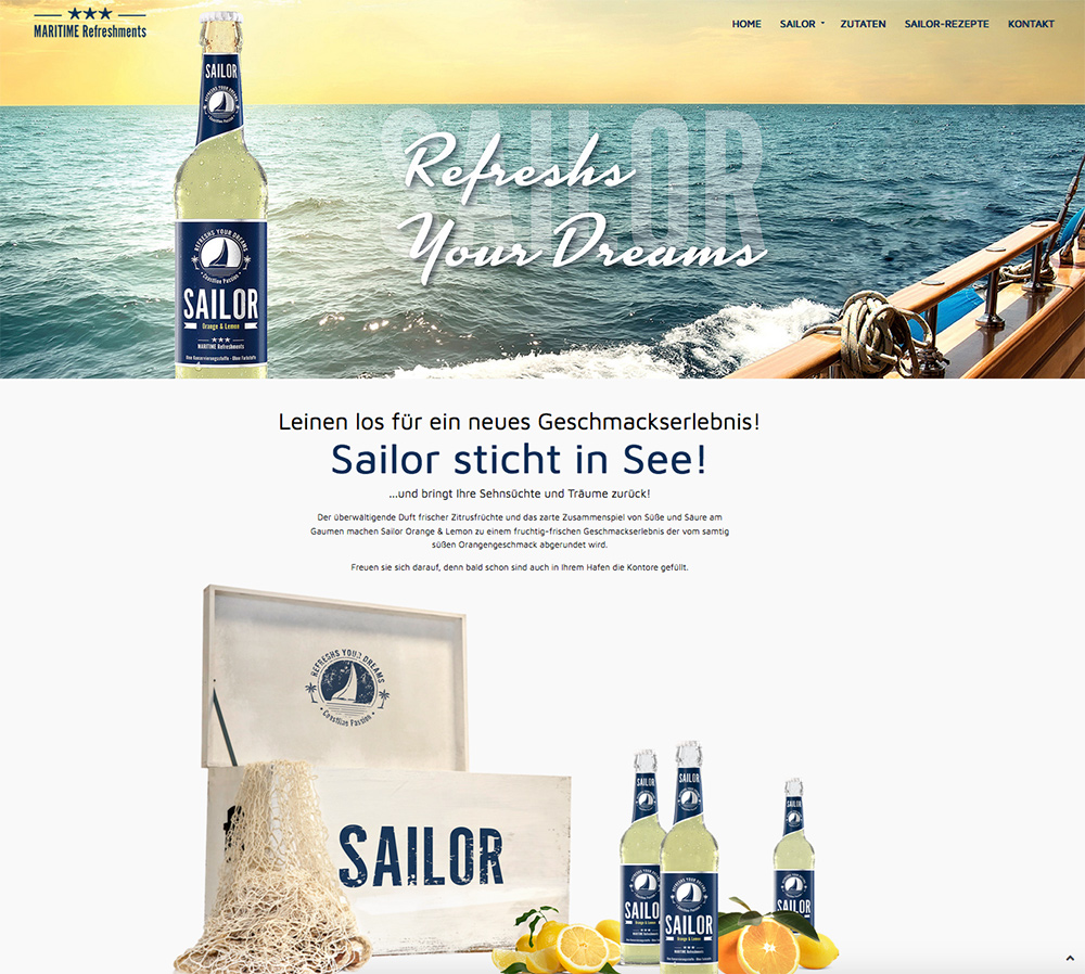 Webdesign Sailor Homepage